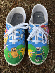 Adventure Time Painted Shoes Part 1 by olivia808