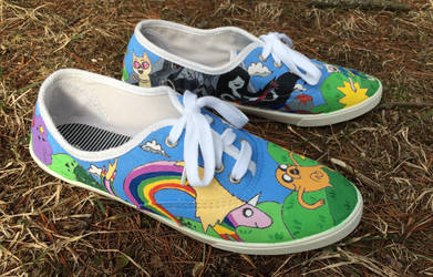 Adventure Time Painted Shoes Part 3 by olivia808