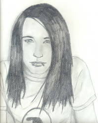 sonny moore -drawing- by From-First-To-Last