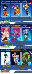 CHRISTMAS COMMISSIONS OPEN by Omi48