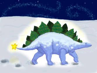 Christmas Stegosaurus by Amateuritis