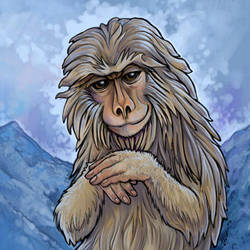 Monkey Tile by ursulav