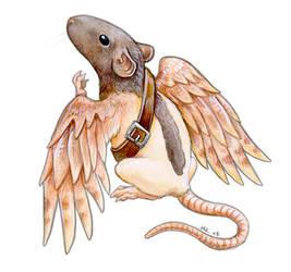 Messenger Rat by ursulav