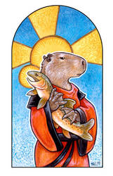 St. Snargus and the Trout by ursulav