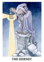 Wombat Tarot--The Hermit by ursulav