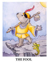 Wombat Tarot--The Fool by ursulav