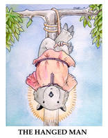 Wombat Tarot--The Hanged Man by ursulav