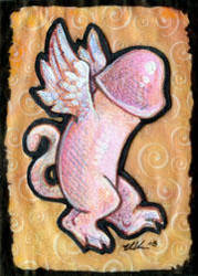 ACEO 5 - Winged Phalloi by ursulav