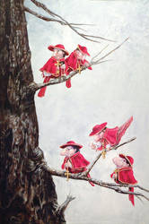 Cardinals in Winter by ursulav