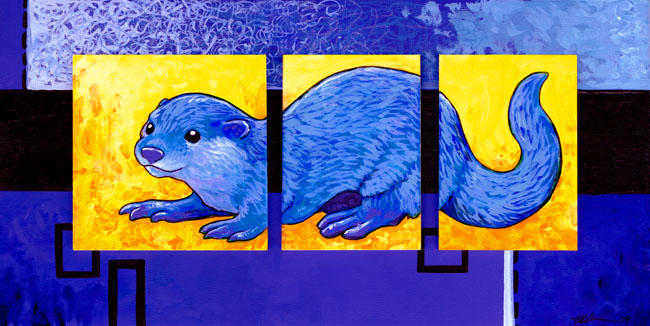Blue Otter by ursulav
