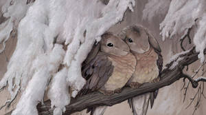 Rabbirds: Mourning Doves by ursulav