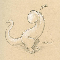 Phallosaur by ursulav