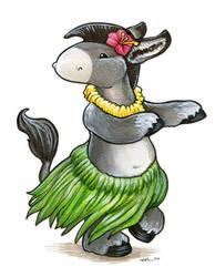 Hula Donkey by ursulav