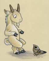 Goat and Goatsucker by ursulav
