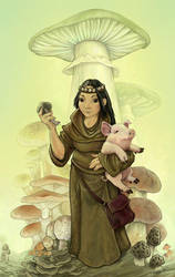 Monk of Mycology by ursulav