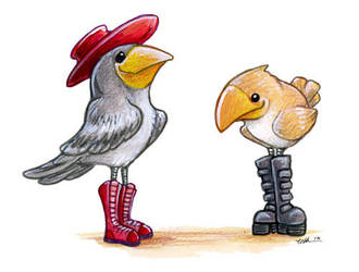 Birds in Boots by ursulav