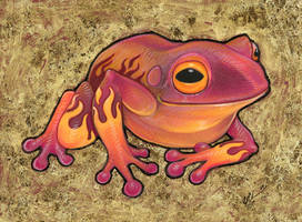 Flame Frog by ursulav