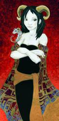 Horned Girl by ursulav