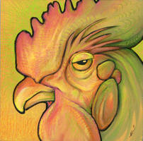 Chromatic Rooster by ursulav