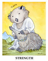 Wombat Tarot: Strength by ursulav