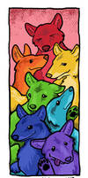 Coyote Rainbow by ursulav
