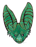 Green Bat by ursulav