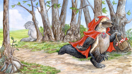 Little Red Riding Wolverine by ursulav