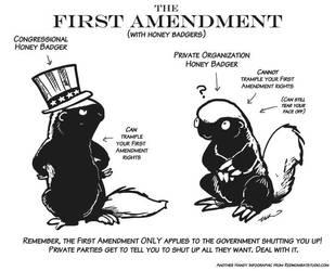 First Amendment Honey Badgers by ursulav
