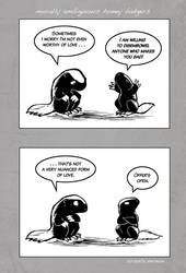 Honey Badger Love by ursulav