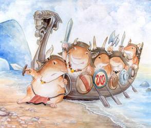 Battle Hamster Raid by ursulav