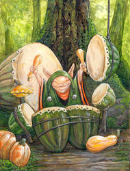 The Squash Drummer by ursulav