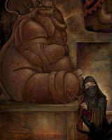 Gearworld: Bear Golem by ursulav