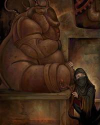 Gearworld: Bear Golem by ursulav