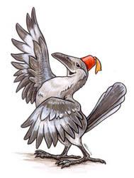 Mockingbird with Fez by ursulav