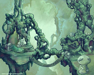 The Jade Gnome City by ursulav