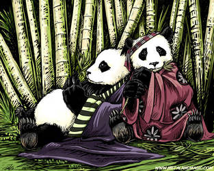 Bamboo Thicket by ursulav