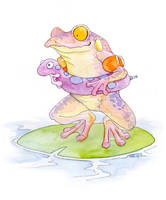 Frog with Water Wings by ursulav