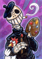 Painter Skeleton by ursulav