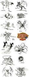 Zelda Oracle of Seasons Bosses by JNRedmon