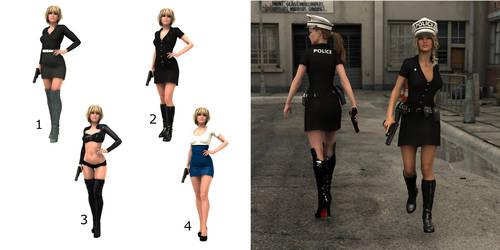 Policewoman concept process by Bodak1984