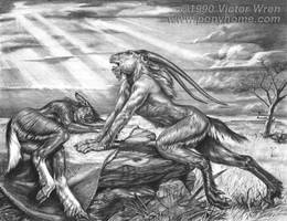 Blackfoot and Whitefoot by ponyhome