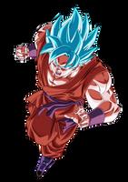 DBS - Goku SSJ Blue Kaio-Ken (no aura) by VictorMontecinos