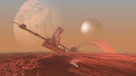 Alien Shipwreck cliche by capn-damo