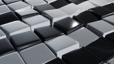 Black and White Cubes by capn-damo