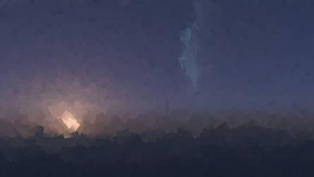 Cubist Sunset by capn-damo