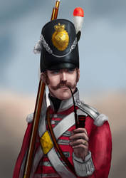 Commission: 32nd Cornwall Regiment of Foot Private by cruorvolt