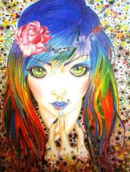 Psychedelic Girl :) by AyameNasai