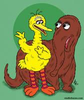 Big Bird and Snuffleupagus by StudioBueno