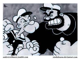 Popeye vs Bluto by StudioBueno