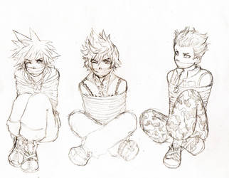 Request!-Sora Roxas and Hayner by TheRookieCookie
